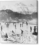 People Enjoying Curling Rink Canvas Print