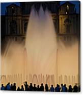 People Watching Fountain, Palace Of Canvas Print