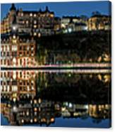 Perfect Sodermalm Blue Hour Reflection Canvas Print