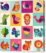 Perfect Vector Set Of Illustration In Canvas Print