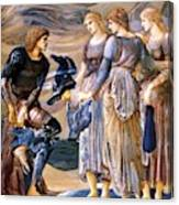 Perseus And The Sea Nymphs 1877 Canvas Print