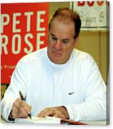Pete Rose Signs Autobiography In New Canvas Print