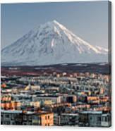 Petropavlovsk-kamchatsky Cityscape And Canvas Print
