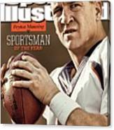 Peyton Manning 2013 Sportsman Of The Year Sports Illustrated Cover Canvas Print