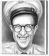 Phil Silvers As Sgt Bilko Canvas Print