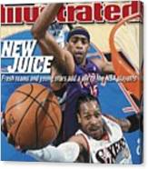 Philadelphia 76ers Allen Iverson, 2001 Nba Eastern Sports Illustrated Cover Canvas Print