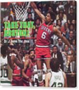 Philadelphia 76ers Julius Erving, 1982 Nba Eastern Sports Illustrated Cover Canvas Print