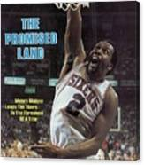 Philadelphia 76ers Moses Malone, 1983 Nba Finals Sports Illustrated Cover Canvas Print
