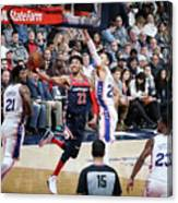 Philadelphia 76ers V Washington Wizards Canvas Print