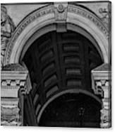 Philadelphia City Hall Fresco In Black And White Canvas Print