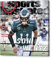 Philadelphia Eagles Carson Wentz, 2018 Nfl Football Preview Sports Illustrated Cover Canvas Print