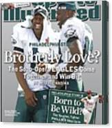 Philadelphia Eagles Qb Donovan Mcnabb And Terrell Owens Sports Illustrated Cover Canvas Print