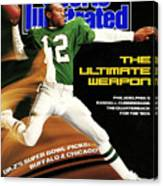 Philadelphia Eagles Qb Randall Cunningham, 1989 Nfl Sports Illustrated Cover Canvas Print