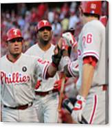 Philadelphia Phillies V St Louis Canvas Print