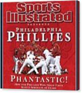 Philadelphia Phillies Vs Tampa Bay Rays, 2008 World Series Sports Illustrated Cover Canvas Print