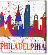 Philly Color Splash Canvas Print