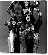Photo Of Ace Frehley And Peter Criss Canvas Print
