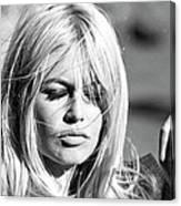 Photo Of Brigitte Bardot Canvas Print