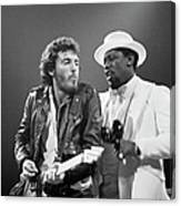 Photo Of Bruce Springsteen And Clarence Canvas Print