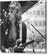 Photo Of Jeff Beck Canvas Print