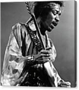 Photo Of Jimi Hendrix And Jimi Hendrix Canvas Print
