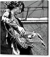 Photo Of Jimmy Page And Led Zeppelin Canvas Print
