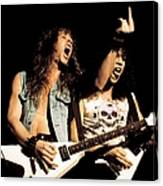 Photo Of Metallica And Kirk Hammett And Canvas Print