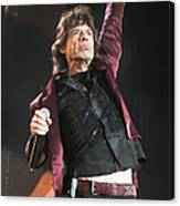 Photo Of Mick Jagger And Rolling Stones Canvas Print