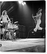 Photo Of Pete Townshend And Roger Canvas Print