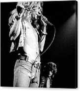 Photo Of Robert Plant And Led Zeppelin Canvas Print