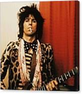 Photo Of Rolling Stones And Keith Canvas Print