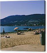 photograph of thid beach which is located in Stanley Park Vancouver. Third beach is a popular location for tourists and locals alike. Canvas Print