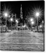 Pier 7 In Black And White Canvas Print