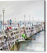 Piers To Be Cold Canvas Print