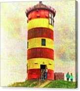 Pilsum Lighthouse Leuchtturm  Canvas Print
