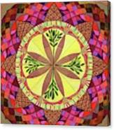 Pine Cone Mandala Canvas Print