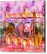 Pink Laughing Elephant Canvas Print