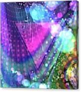 Pink Triangle Fractal Canvas Print