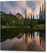 Pinnacle Peak Sunset Reflection Angles Canvas Print