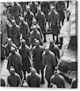 Pit 1 Of Terra Cotta Warriors In Black And White Canvas Print