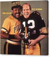 Pittsburgh Pirates Willie Stargell And Pittsburgh Steelers Sports Illustrated Cover Canvas Print