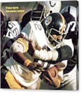 Pittsburgh Steelers Franco Harris, 1974 Afc Championship Sports Illustrated Cover Canvas Print