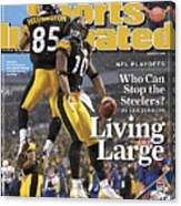 Pittsburgh Steelers Nate Washington And Santonio Holmes Sports Illustrated Cover Canvas Print