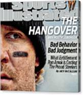 Pittsburgh Steelers Qb Ben Roethlisberger... Sports Illustrated Cover Canvas Print