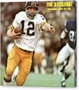 Pittsburgh Steelers Qb Terry Bradshaw, Super Bowl Ix Sports Illustrated Cover Canvas Print