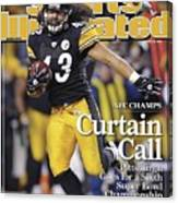 Pittsburgh Steelers Troy Polamalu, 2009 Afc Championship Sports Illustrated Cover Canvas Print