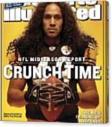 Pittsburgh Steelers Troy Polamalu Sports Illustrated Cover Canvas Print
