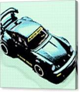 Pixel Porsche Canvas Print