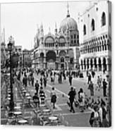Place, San Marco Place At Venise In Canvas Print