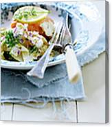 Plate Of Pasta With Fish Canvas Print